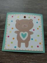 American Greetings Small Blank Greeting Card~Teddy Bear ~New ~Shipn24 - $1.28