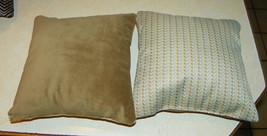 Pair of Light Blue Beige Dot Decorative Print Throw Pillows  12 x 12 - $29.95