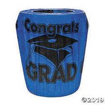 Fun Express Blue Congrats Grad Graduation Trash Can Cover - $5.61