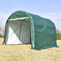 10'x10'x8' Canopy Carport Tent Steel Frame Storage Shed Car Shelter Outdoor - $259.99