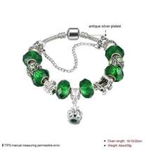 YW-GSH176 Easy-hook Clasp Charm Bracelet Crystal Bead Decor Fashion Plat... - $9.23
