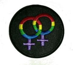 Lesbian rainbow symbol Lovely Gay pride lgbt rainbow flag PATCH Aufnäher - $2.24