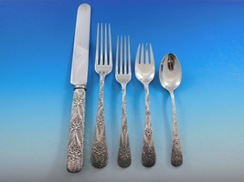 Antique Custom Engraved by Tiffany Sterling Silver Flatware Set Service 62 pcs  - $19,995.00