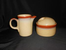 Mikasa Potters Country Cabin Creamer & Sugar Bowl Vintage 1978-1988 - $23.75