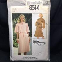 Vintage Simplicity 8514 Sewing Pattern Pullover Dress Tie Belt 1978  - $4.99
