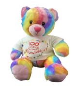 2012 Build A Bear Workshop Tye Dye Rainbow Bear 16 Inch Plush Stuffed An... - $15.85