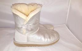 UGG Australia Silver Metalic Sheepskin boots size 6 - $37.04