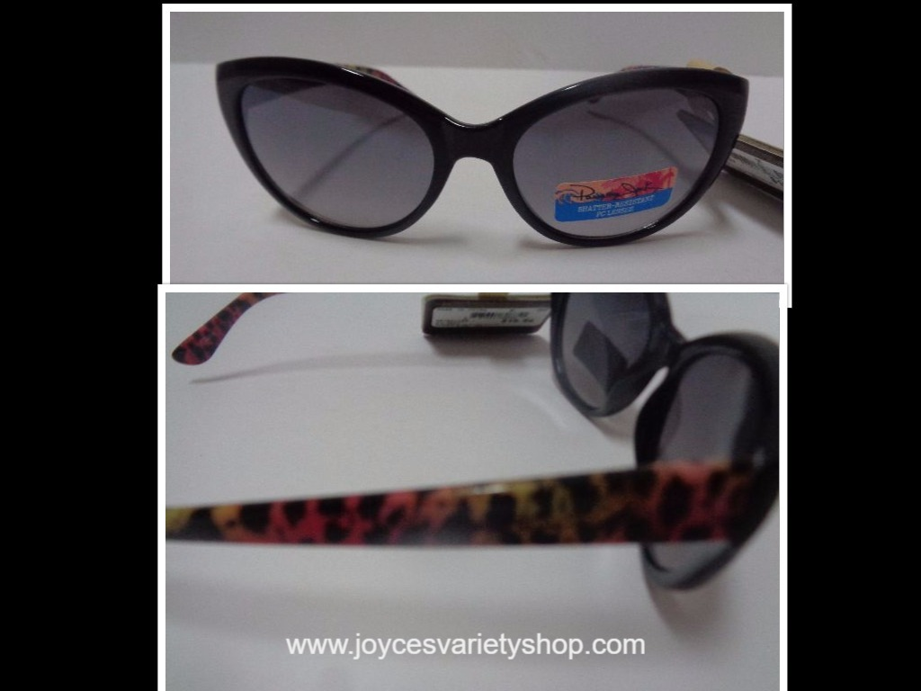 Primary image for Panama Jack Sunglasses NWT Black Pink Animal Print 100% UVA UVB Protection