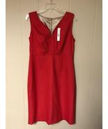 Tahari Women Jill Dress  Dress Sakura Red Size US 10  - $31.00