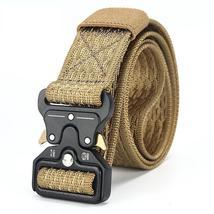 [DWTS]Mens Canvas Belt Male Tactical Belt Men Outdoor Army Belt 100% Nyl... - $33.15+