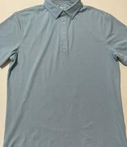 Men's Johnnie O Light Blue Golf Polo Shirt Size Medium - $21.77