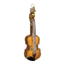 Old World Christmas Gold Violin Glass Musical Instrument Xmas Ornament 38008 - $10.88