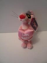 """Vintage 2009 Aurora Pink Panther Love Bandit 6"""" Plush Stuffed Animal Toy... - $7.92"""
