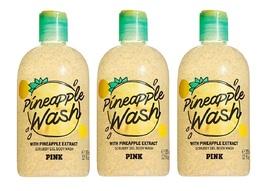 Victoria's Secret PINK Pineapple Scrubby Gel Body Wash 12 fl oz - x3 - $37.99