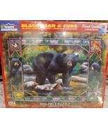White Mountain Puzzles Black Bear & Cubs Jigsaw Puzzle 1000 Piece - $12.34