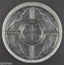 "Vintage Clear Pressed Glass 5 Part Relsih Dish 9.375"" Wide Tableware Serveware - $22.99"