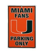 """Miami Fans Parking Only Aluminum Wall / Man-cave Sign 12""""X18"""" - $19.15"""
