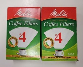 Melitta #4  White Coffee Filters, 100 Filters, (2 Packs) - $12.99