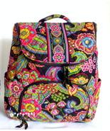 Vera Bradley Double Zip Backpack Bookbag Sympho... - $90.00