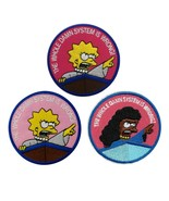 """THE WHOLE DAMN SYSTEM IS WRONG IRON ON PATCH 3"""" Lisa Simpson Social Just... - $4.99"""