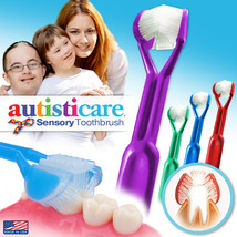 4-PK | DenTrust Autisticare Child-Safe 3-Sided Toothbrush | Special Needs Autism - $18.95