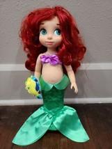 "Disney Store Exclusive Animators Toddler 16"" Ariel The Little Mermaid doll  - $16.44"