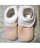 Baby Girl Boots Infant Newborn Soft Sole Booties Beige and  Pink Baby le... - $9.89