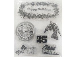 Happy Holidays Clear Stamp Set with Icons
