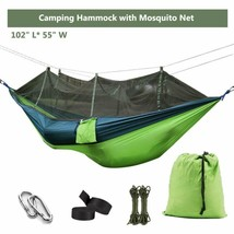 Ufanore Camping Hammock With Mosquito Net, Lightweight Nylon Portable Ha... - $33.37