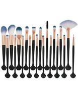 Pro 20Pcs Face Eye Makeup Brushes Shell Shape Make Up Brushes Women Cosm... - $34.95