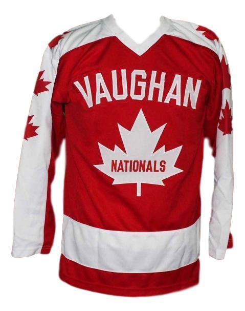 Wayne gretzky vaughan nationals retro hockey jersey red   1