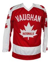 Wayne Gretzky Vaughan Nationals Retro Hockey Jersey New Red Any Size image 1