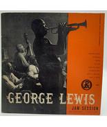 "George Lewis 10"" Record Pax Jam Session 33-1/3 6001 Vintage Jazz 20-10 - $23.70"