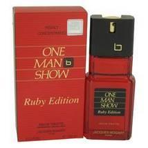 One Man Show Ruby Eau De Toilette Spray By Jacques Bogart For Men - $24.85