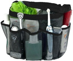 Shower Organizer Caddy Bag Bath Storage Pouch Quality Mesh Tote w 7 Pock... - $17.96