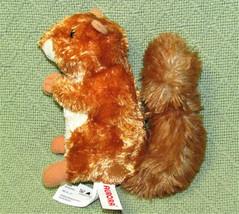 "Aurora World Mini Flopsies 7"" Baby Squirrel B EAN Bag Stuffed Animal Bushy Tail - $9.90"