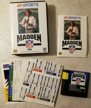 Madden NFL '94 (Sega Genesis, 1993) Complete Free US Shipping  - $8.42