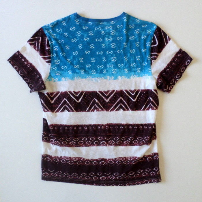 American Rag Cie Men's T-Shirt XX Large Blue White Burgundy/Brown