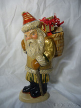 Vaillancourt Folk Art Santa Delivery Golden Gifts Personally Signed by Judi image 1
