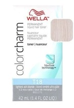 Wella Color Charm Toner - #T18 - Lightest Ash Blonde 1.4 oz. (Pack of 2) - $10.88