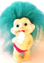 "MAGIC TROLLS - APPLAUSE INC 1991 – Vintage Baby Troll with Bottle - 3"" - $9.55"