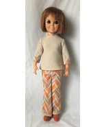 Vintage Ideal Toy Crissy Doll with Growing Red Hair Retro Outfit Boots 1... - $39.95