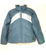 Colombia Puffer Ski Snow Down Jacket Vest Women Size XL Blue Zippered Po... - $29.69