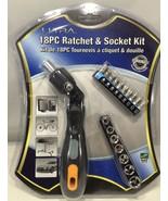 Ultra - U12-40525 - 18PC Ratchet & Socket Kit - 9x Screw Bits, 180° Adju... - $14.80