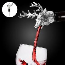 Creative Deer Head Design Red Wine Bottle Metal Pourer Stopper Kitchen B... - $15.99