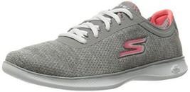 Skechers Performance Women's Go Step Lite Agile Walking Shoe, Gray/Pink,... - $74.25
