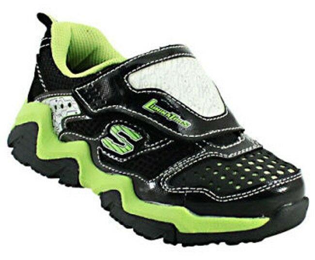 Skechers S-LIGHTS Luminators Si Illumina Athletic Scarpe Sneakers Nwt Youth 2 $