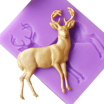DIY Silicone Fondant Mold Christmas Deer Shape Cake Pastry Mould Kitchen... - £13.90 GBP