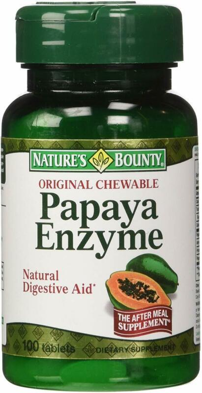 Primary image for Nature's Bounty Papaya Enzyme Dietary Supplement, Supports Digestive Enzymes, 10