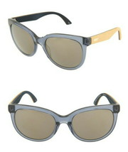 Puma Leather Side Sunglasses Blue Silver Beige 54-20-140 Silver Lens w P... - $89.00